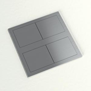 Bloc 1 prise et 2 USB chargeur encastrable carré IP54