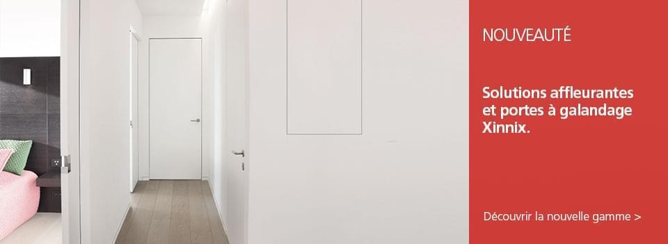 Portes affleurantes Xinnix - Portes, trappes, niches et plinthes: une nouvelle gamme affleurante complète.
