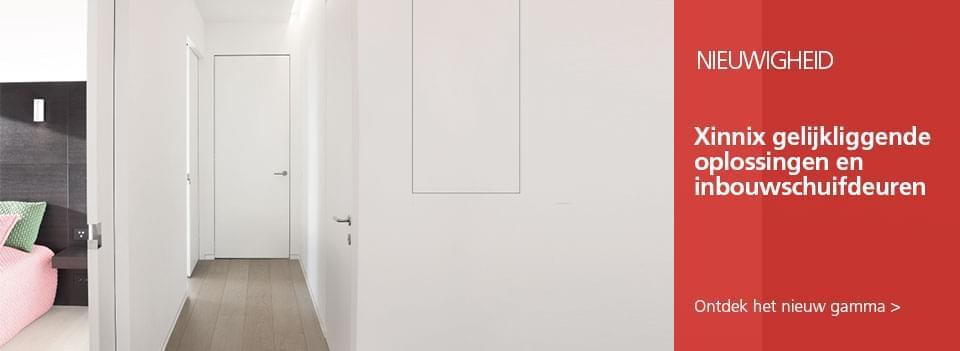 Xinnix oplossingen voor deuren - Nieuw gamma van Xinnix voor gelijkliggende oplossingen en inbouwschuifdeuren