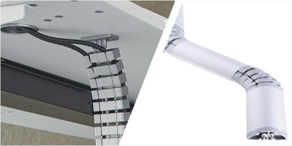 Moduleerbare en afkortbare kabelgeleiders
