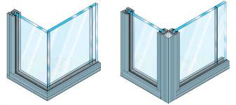 profils aluminium pour cloisons verre. Black Bedroom Furniture Sets. Home Design Ideas
