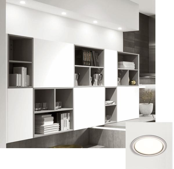 Spot LED encastré plafonnier salon