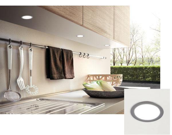 Spot LED encastré meubles haut de cuisine