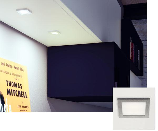 Meuble salon avec spot LED en applique