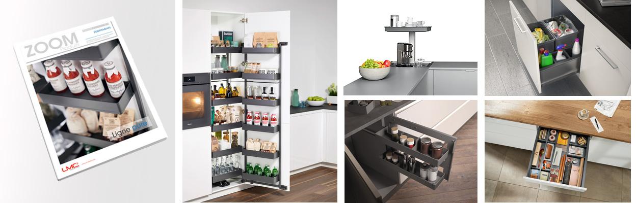 Composition de plusieurs aménagements pour optimiser l'espace dans la cuisine