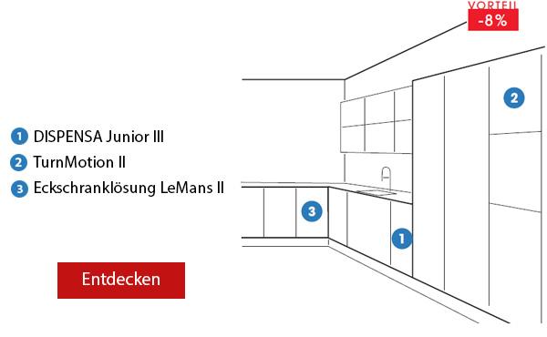 Pack 7 DISPENSA Junior III Küche, L-Form