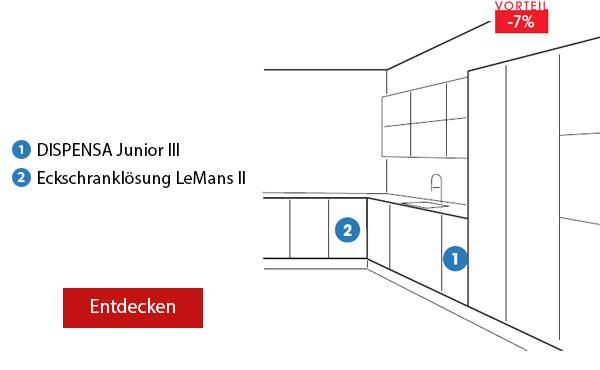 Pack 8 DISPENSA Junior III Küche, L-Form