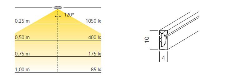 technische Zeichnung flexible led slim wave