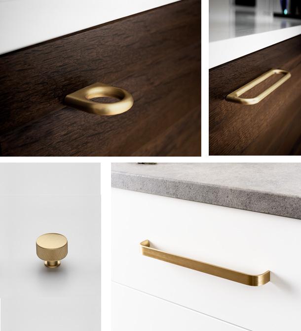 poignees et boutons pour meuble dore LMC