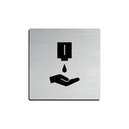 Inox signalisatiebord zelfklevend