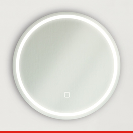Miroir rond avec luminaire