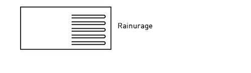 Rainurage pour les eviers