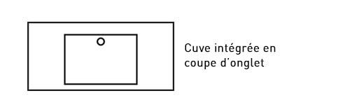 Cuve intégrée en coupe d'onglet