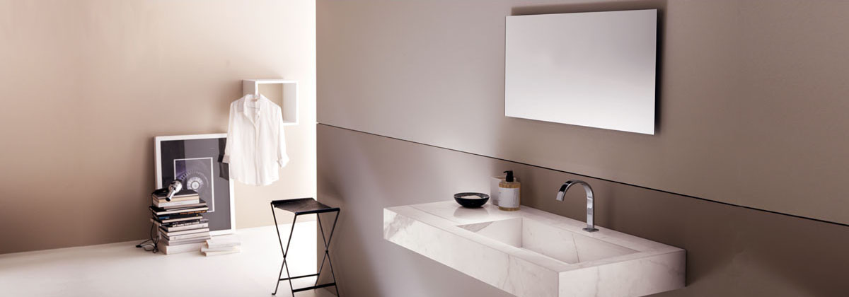 Vasque lavabo de salle de bain en ceramique