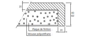 Composition plan quartz avec retombee