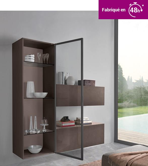 meuble avec porte cadre alu