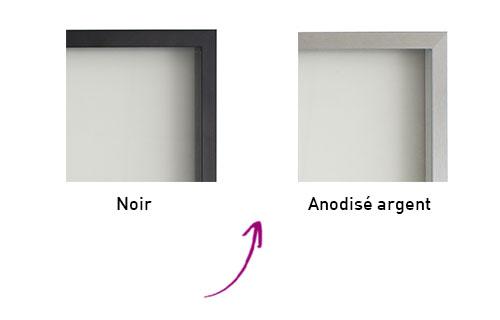 Coloris cadre alu pour porte de meuble
