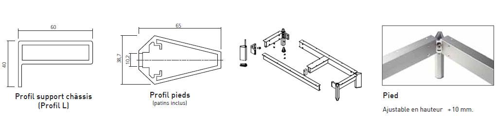 schema Frame du support chassis et du pied