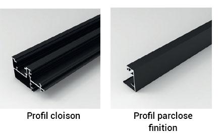profil cloison et profil parclose